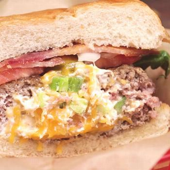 Basic spicy cheeseburgers can't compete with this stuffed masterpiece. Save the ... Basic spicy che