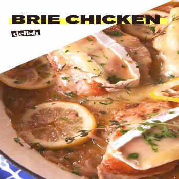 Brie Chicken This is hands-down the best chicken recipe we've EVER made. Get the recipe at .