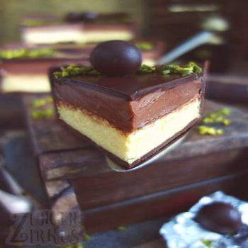 Mozart cheesecake with marzipan, nougat & chocolate - tongue circus-#amp I cannot say whether the f