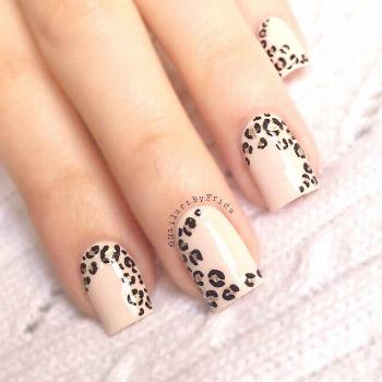 My forever go to  I gave my nails a bit of a trim but luckily, leopard print…