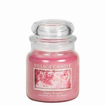Village Candle Cherry Blossom 16 oz Glass Jar Scented