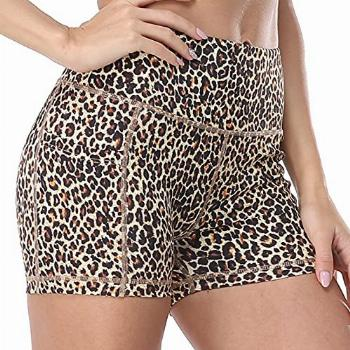 Yoga Shorts Side Pockets,Volleyball Workout Print