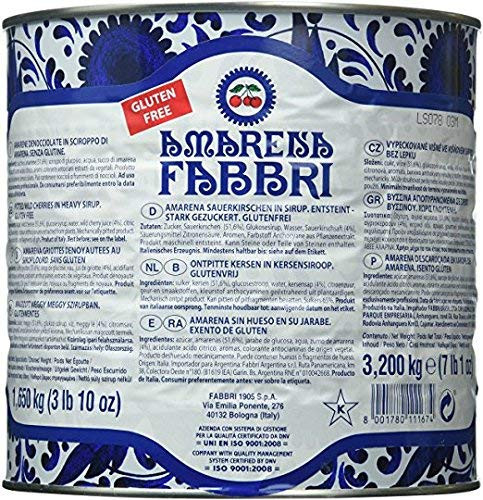 Amarena Fabbri Wild Cherries in Syrup, Large Can