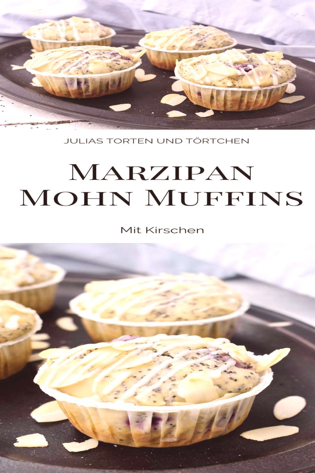 Marzipan poppy seed muffins with cherries#cherries